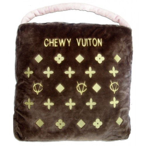 Brown Chewy Vuiton Dog Bed