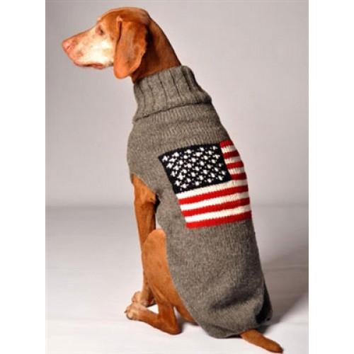 American Flag Dog Sweater