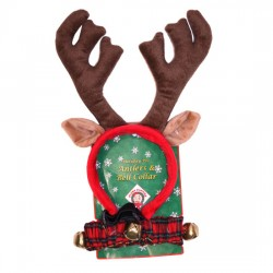 Antler & Scrunchy Collar with Bells - Combo for Dogs!