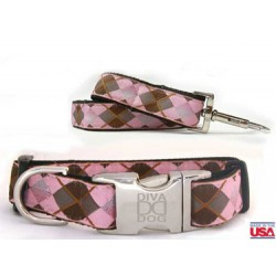 Argyle Dog Collar Collection - All Metal Buckles