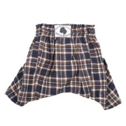 Belly Boxers - Navy & Brown Flannel