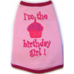 Birthday Girl Tank for Dogs - perfect to celebrate your little girls birthday! Available for little boys too!