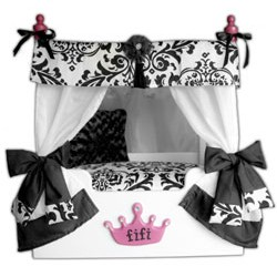 Black Bella Canopy Pet Bed  sc 1 st  Doggy in Wonderland & Luxury Dog Beds