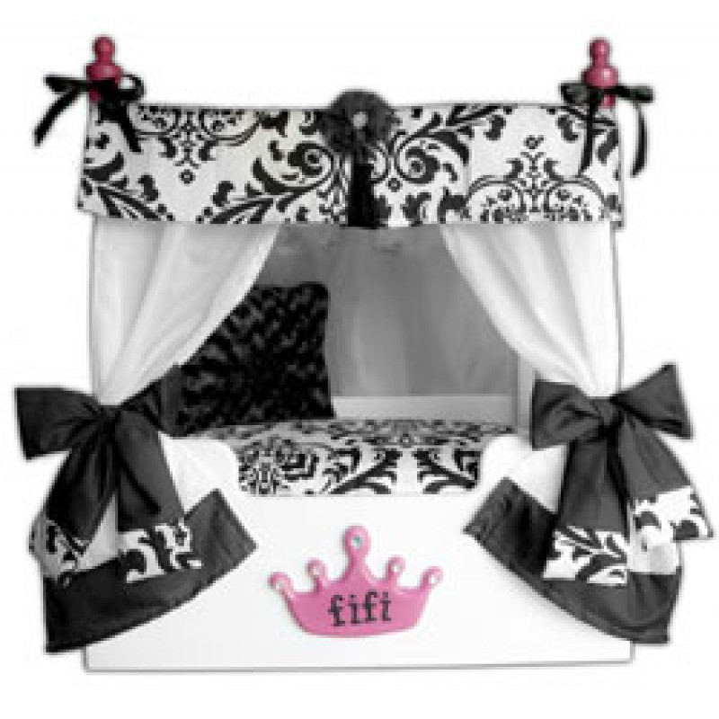 sc 1 st  Doggy in Wonderland & Black Bella Canopy Pet Bed
