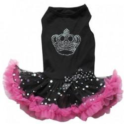 Black Crown Petti Dog Dress