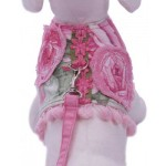 Blossom Harness for Dogs w/Matching Leash! Oh so sweet and practical. Walk your diva dog in style with this adorable harness vest and cute pink leash to match!