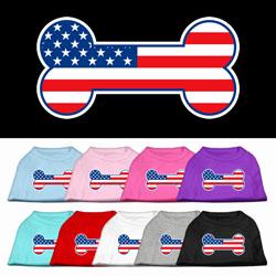 Bone Shaped American Flag Shirt for Dogs
