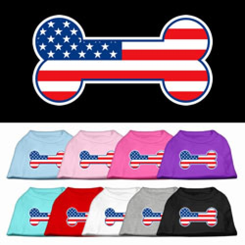Bone Shaped American Flag Shirt for Dogs