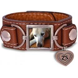 Leather Photo Bracelet