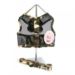 Camouflage Netted Harness w/Leash