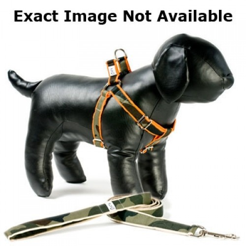 Camo on Khaki Adjustable Step-in Dog Harness