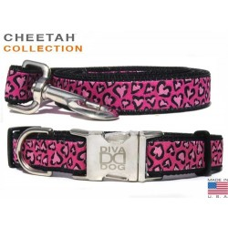 Cheetah Collar and Lead Collection - All Metal Buckles