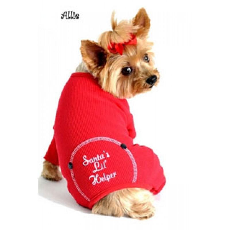Christmas Dog Pajama Santas Lil Helper