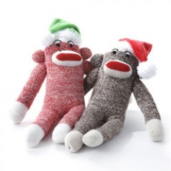 Christmas Sock Monkey for Dogs