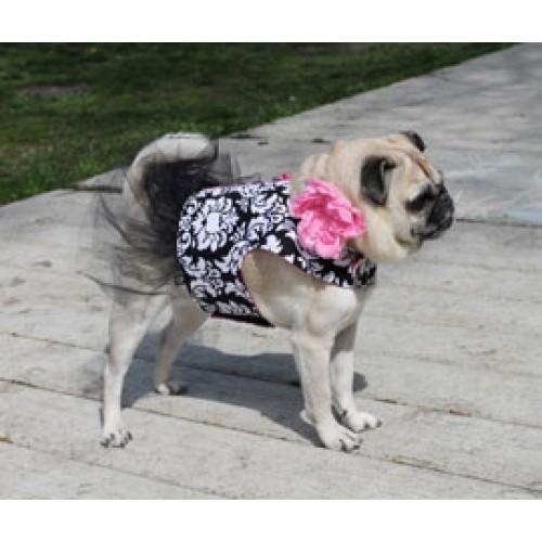 Damask Tutu Dog Dress