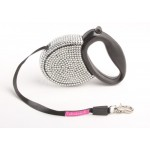 FabuLeash™ - Crystallized Retractable Leash - available in 3 colors covered with bling!