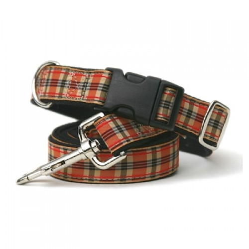 Fall Plaid Collars & Leashes