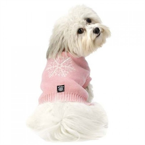 Frostys Snowflake Sweater in Pink