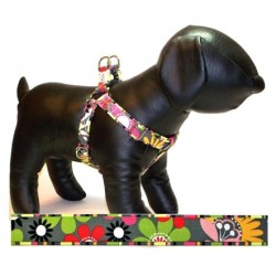 Garden Party Adjustable Step-in Dog Harness