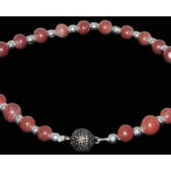 Garnet Agate Necklace for Dogs