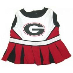 Georgia Bulldogs Cheer Dress for Dogs