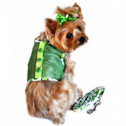 Green Lady Bug Cool Mesh Harness and Leash