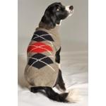 Grey Classic Argyle Dog Sweater
