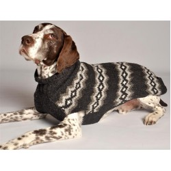Grey Diamonds Dog Sweater