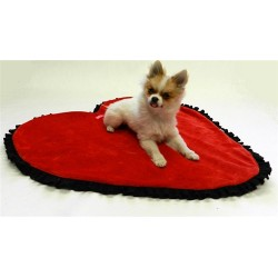 Heart Shaped Blankee for Dogs - Its Reversible!