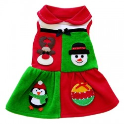 Holiday Patchwork Dress for Dogs by Ruff Ruff Couture®