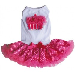 Hot Pink Cupcake Petti Dog Dress