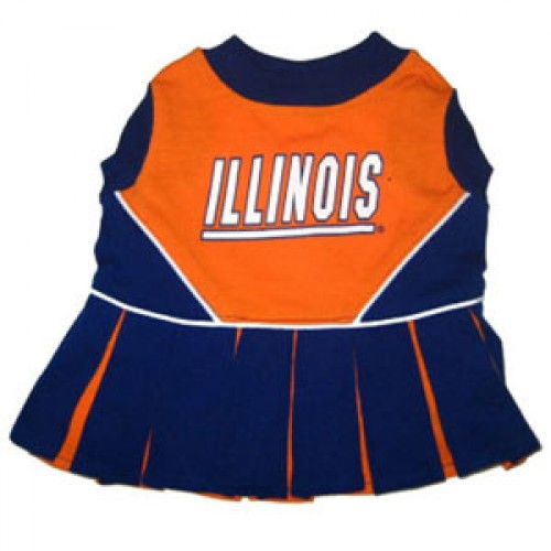 Illinois Fighting Illini Cheer Dress for Dogs