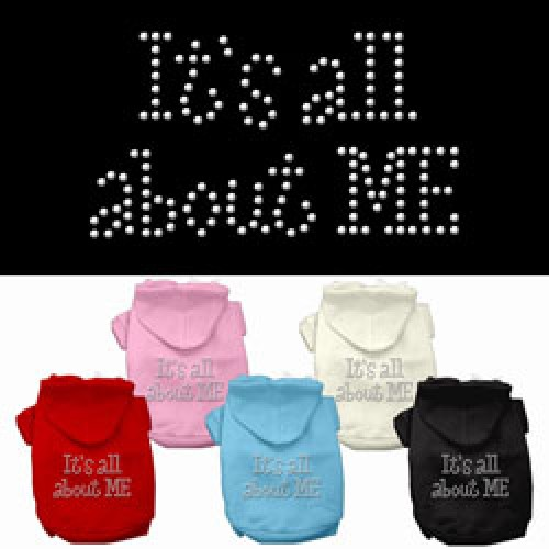 Its All About Me Rhinestone Dog Hoodie