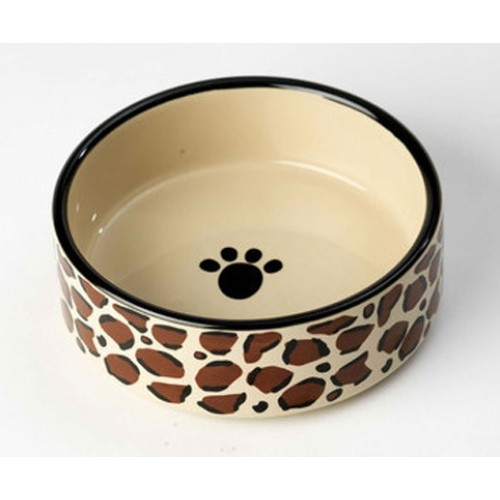 Leopard Buzz Pet Food Bowl