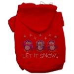Let It Snow Penguins Rhinestone Dog Hoodie