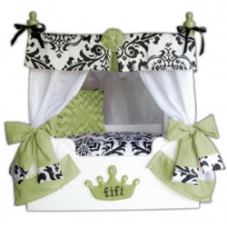 Lime Bella Canopy Pet Bed