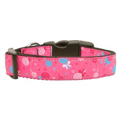 Lollipops Nylon Ribbon Dog Collars