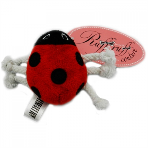 Lucky Lady Bug Rope Toy by Ruff Ruff Couture®