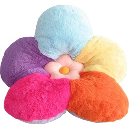 Multi Color Flower Plush Novelty Pet Bed