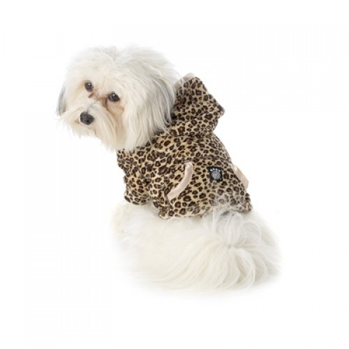 Nikos Leopard Print Hoodie for Dogs - soft and cozy!