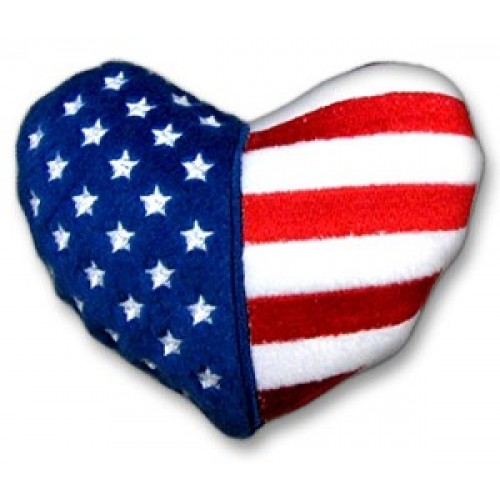 Patriotic Heart Shaped Plush Dog Toy