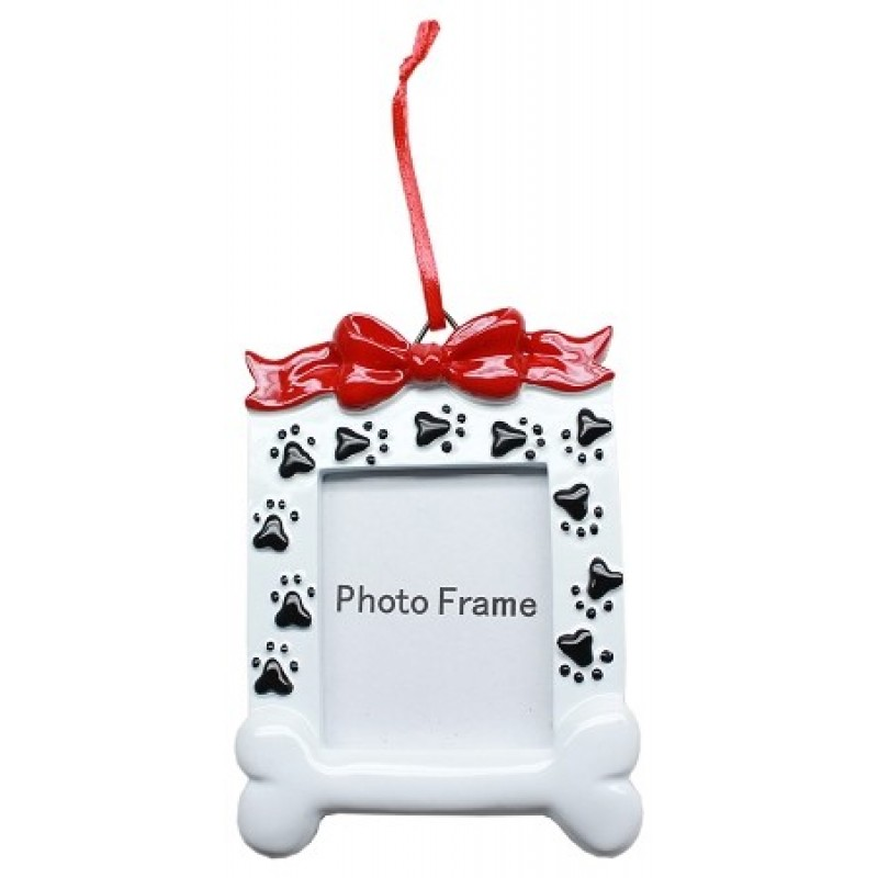 Paw Print Picture Frame Holiday Ornament
