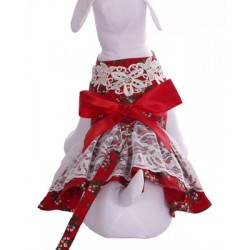 Peppermint Gal Holiday Doggy Dress w/Harness and Matching Leash!