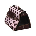 Pink and Brown Polka Dot Travel Carrier for Your Doggy!