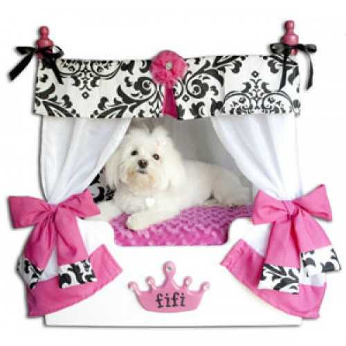 Pink Bella Canopy Pet Bed