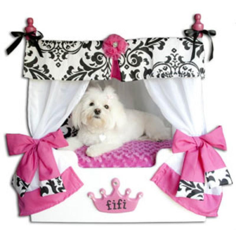 - Pink Bella Canopy Pet Bed