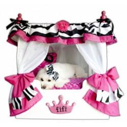 Pink Fifi Zebra Pet Bed