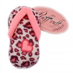 Pink Leopard Sandal by Ruff Ruff Couture - Plush Toy for Dogs