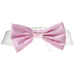 Pink Satin Bow Tie for Doggys
