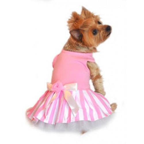 Pink Striped Tank Dog Dress